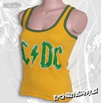 bokserka damska AC/DC - LOGO żółta