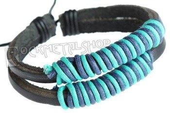 bransoletka podwójna czarno-niebieska