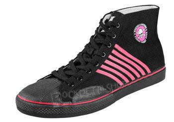 buty DRAVEN - DUANE PETERS CANVAS HIGH  pink/black