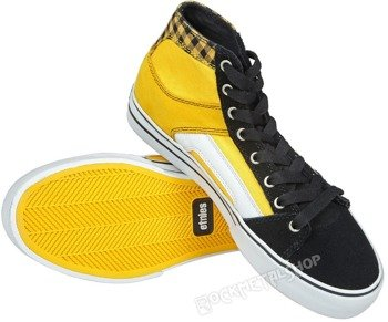 buty ETNIES - RSS HIGH BLACK WHITE YELLOW
