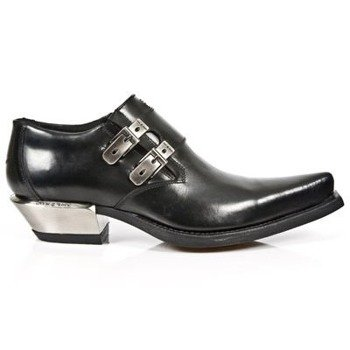 buty NEW ROCK ANTIK NEGRO, WEST NEGRO-ACERO TACON ACERO [7934-S1]