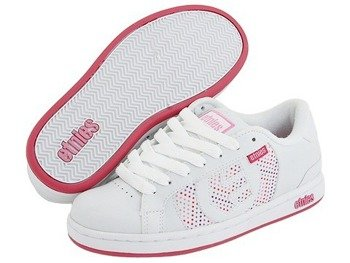 buty damskie ETNIES - DROP-QUT (WHITE/HOT PINK) 09'