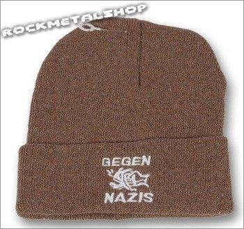 czapka GEGEN NAZIS brązowa