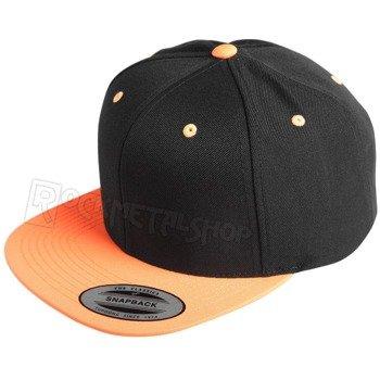 czapka MASTERDIS - BASEBALL CAP FLEXFIT SNAPBACK black/neonorange
