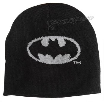 czapka zimowa BATMAN - LOGO CLASSIC GREY czarna