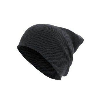 czapka zimowa MASTERDIS - BEANIE BASIC FLAP LONG ht.charcoal