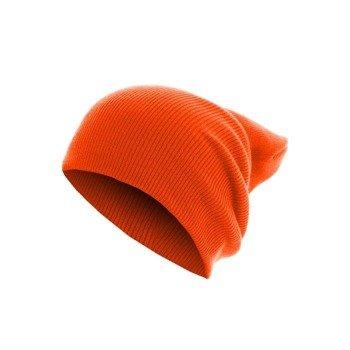 czapka zimowa MASTERDIS - BEANIE BASIC FLAP LONG neonorange