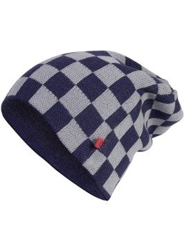 czapka zimowa MASTERDIS - C3 CHECK KNIT BEANIE navy/grey