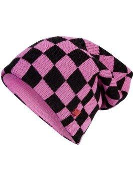 czapka zimowa MASTERDIS - C3 CHECK KNIT BEANIE pink/black