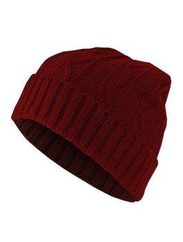 czapka zimowa MASTERDIS - CABLE FLAP maroon