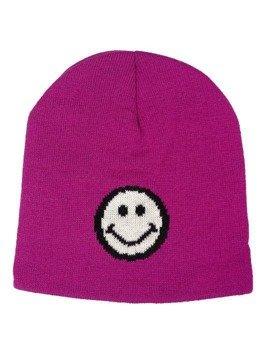 czapka zimowa MASTERDIS - SMILEY JACQUARD KNIT fuschia