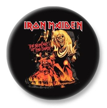 duży kapsel IRON MAIDEN - THE NUMBER OF THE BEAST