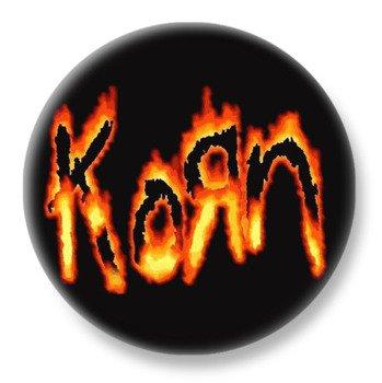duży kapsel KORN - FLAMING LOGO