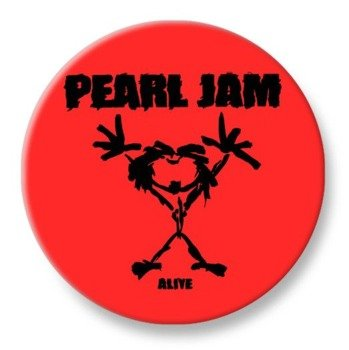 duży kapsel PEARL JAM - ALIVE czerwony