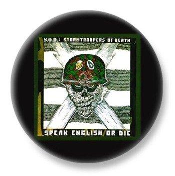 duży kapsel S.O.D. - SPEAK ENGLISH OR DIE