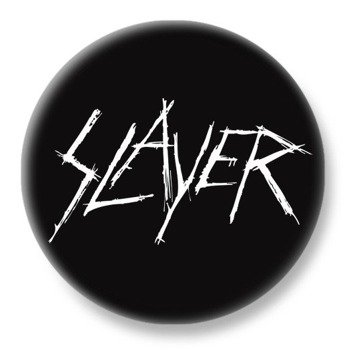 duży kapsel SLAYER - WHITE LOGO