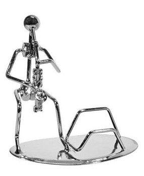 figurka SAKSOFONISTA chromowana, 13,5cm