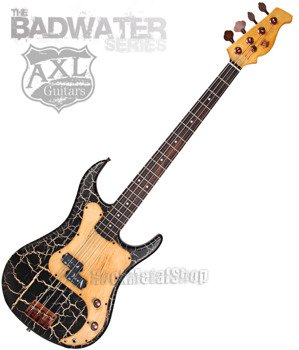 gitara basowa AXL BADWATER / BLACK CRACKLE