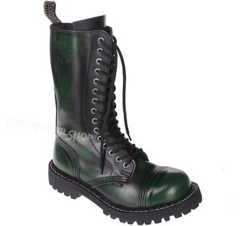 glany STEEL - GREEN / BLACK (15-dziurkowe)