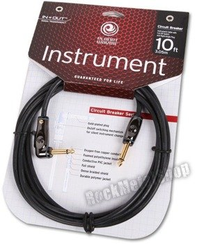 kabel gitarowy 3,05m PLANET WAVES CIRCUIT BREAKER jack kąt/prosty (PW-AGRA-10)
