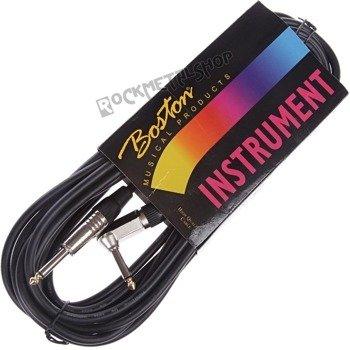 kabel gitarowy BOSTON GC-104-6BK BLACK 6m jack prosty/kątowy