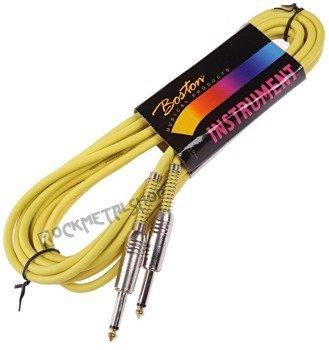kabel gitarowy BOSTON GC-90-6YE YELLOW 6m jack prosty/prosty