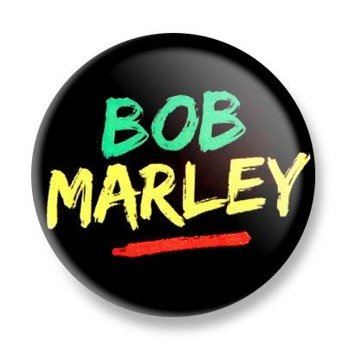 kapsel BOB MARLEY Ø25mm
