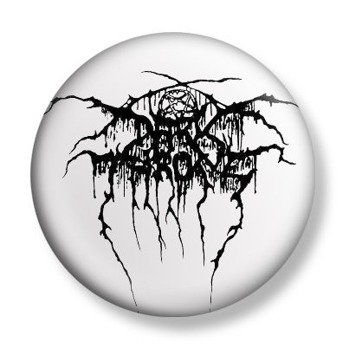 kapsel DARKTHRONE - LOGO BLACK ON WHITE