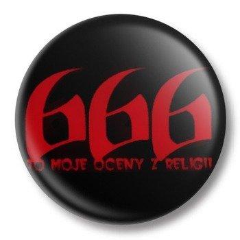 kapsel średni 666 TO MOJE OCENY Z RELIGII Ø38mm