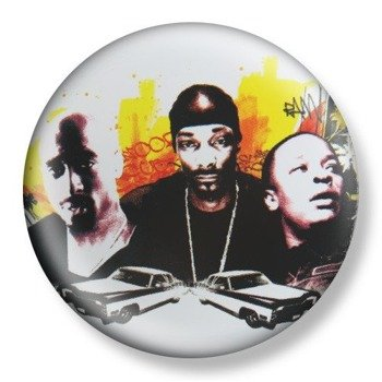 kapsel średni DEATH ROW RECORDS - 2PAC, SNOOPY, DR DRE Ø38mm