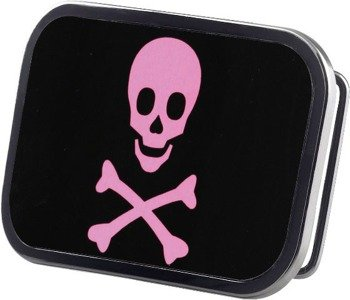 klamra do pasa SKULL FRAMED FCG BLACK/PINK