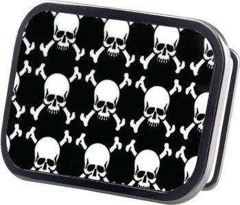 klamra do pasa TOP SKULLS BLACK/WHITE
