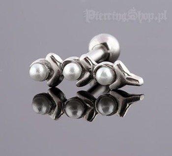 kolczyk piercing do ucha UPPER EAR PEARLS [TIP-40]