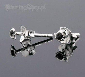 kolczyki do uszu DELFIN BLK [STF-210]