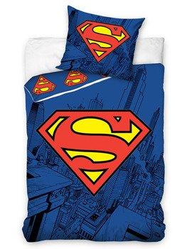 komplet pościelowy SUPERMAN, kołdra (160*200) + poduszka (70*80)