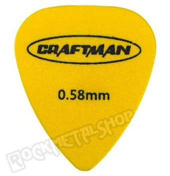 kostka gitarowa CRAFTMAN - MATTE ABS YELLOW WP-600Q