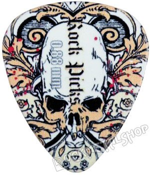 kostka gitarowa ROCK PICK - SKULL IN LEAVES
