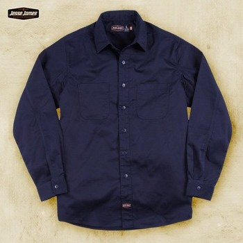 koszula JESSE JAMES - HEAVY DUTY WORKSHIRT granatowa