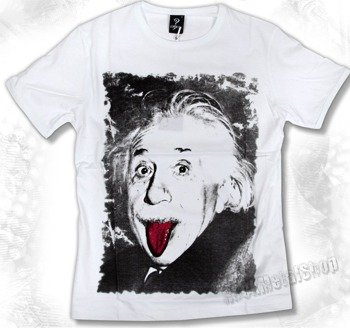 koszulka ALBERT EINSTEIN biała