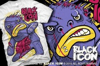 koszulka BLACK ICON - BIGMO biała (MICON096 WHITE)