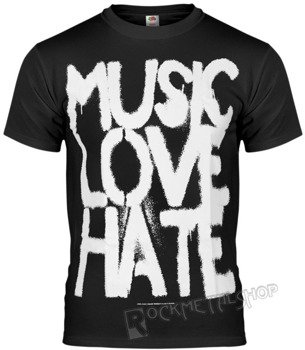 koszulka BLACK ICON - MUSIC, LOVE, HATE black (MICON103BLC)