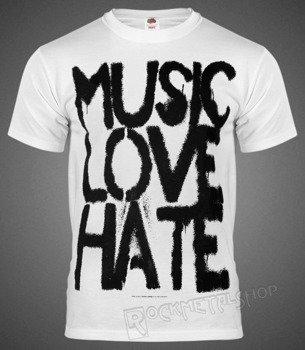 koszulka BLACK ICON - MUSIC, LOVE white (MICON103WHT)