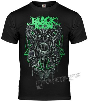 koszulka BLACK ICON - RADIOACTIVE SKULL (MICON071 BLACK)