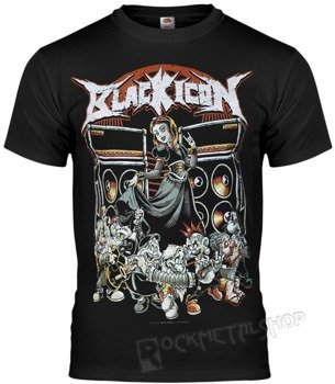 koszulka BLACK ICON - SNOW WHITE (MICON110 BLACK)