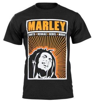 koszulka BOB MARLEY - ROOTS, REGGAE, REBEL, MUSIC