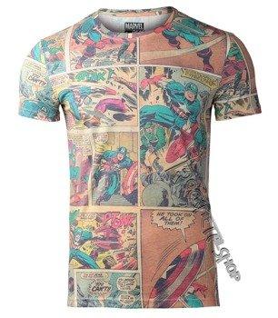 koszulka CAPTAIN AMERICA - CARTOON