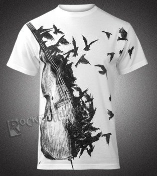 koszulka DARK VIOLIN biała