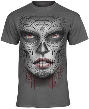 koszulka DEATH MASK charcoal