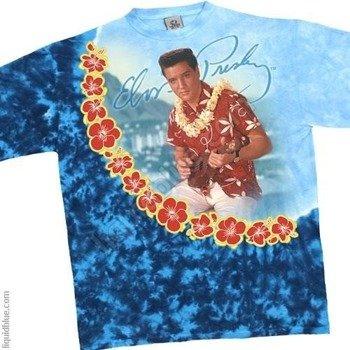 koszulka ELVIS PRESLEY - BLUE HAWAII barwiona
