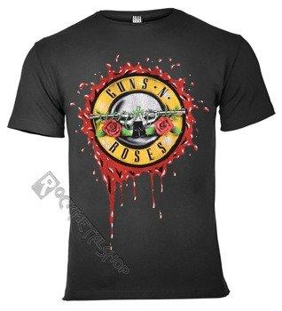 koszulka GUNS N' ROSES - BULLET LOGO ciemnoszara